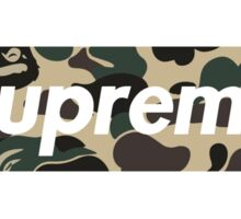 Supreme X Bape Sticker