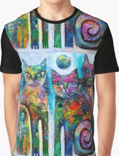 Three Cats Graphic T-Shirt