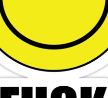 Fuck Off Smiley Sticker