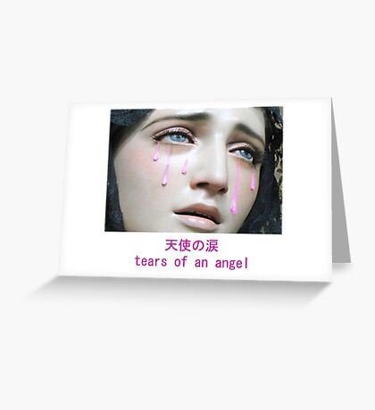 Angel Tears Greeting Card