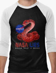 NASA Lies - Never Trust a Snake Men's Baseball ¾ T-Shirt