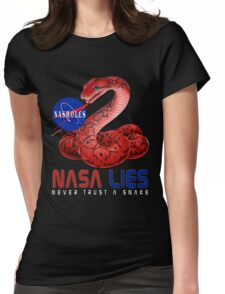 NASA Lies - Never Trust a Snake Womens Fitted T-Shirt