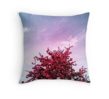 Vibrant Leaves Throw Pillow
