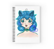 Bubbly Kitten Girl Spiral Notebook