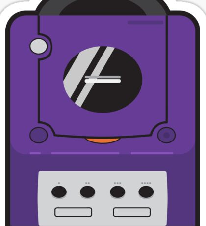 Purple Gamecube Sticker