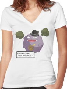 Koffing Used Toxic Masculinity! Women's Fitted V-Neck T-Shirt