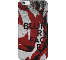 Blurryface Minimal Grunge Abstract Poster iPhone Case/Skin