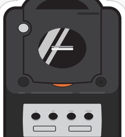 Black Gamecube Sticker
