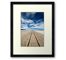 Railway in Atacama Desert, Uyuni desert, Bolivia Framed Print