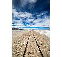 Railway in Atacama Desert, Uyuni desert, Bolivia Photographic Print