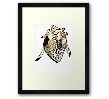 Empty Heart Framed Print