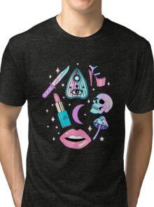 Girly Pastel Witch Goth Pattern Tri-blend T-Shirt