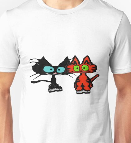 Cats Playing Video Games! Unisex T-Shirt