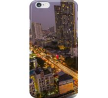Aerial view of Bangkok at twilight night, Thailand iPhone Case/Skin