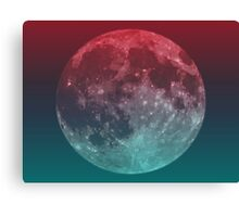 American Werewolf on the Moon (Optical iLLusion)  Canvas Print