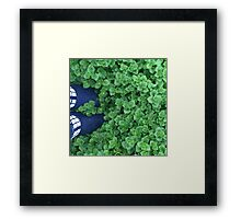 standing in nature Framed Print