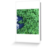 standing in nature Greeting Card