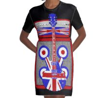 Vintage amp and guitar Graphic T-Shirt Dress