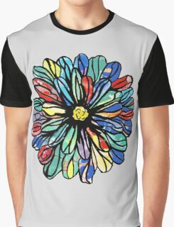 Blooming With Color Graphic T-Shirt