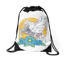 Ride into the Sunset Drawstring Bag