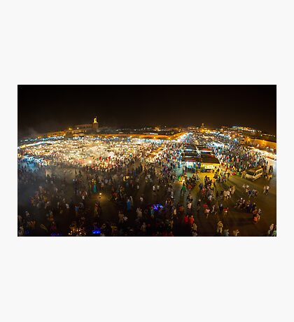 Jemaa el-Fnaa, square and market place in Marrakesh Photographic Print