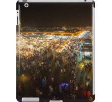 Jemaa el-Fnaa, square and market place in Marrakesh iPad Case/Skin