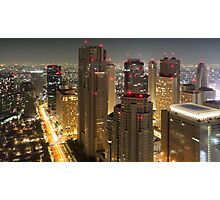 Tokyo by night, Japan Photographic Print