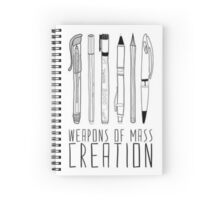 Weapons of Mass Creation Spiral Notebook