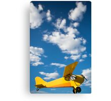 Yellow old airplane Canvas Print