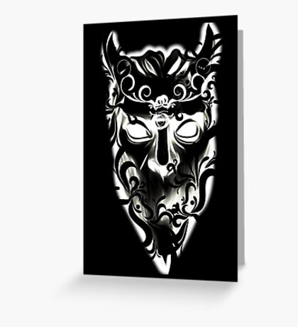 FANCY WHITE GHOUL - black background Greeting Card