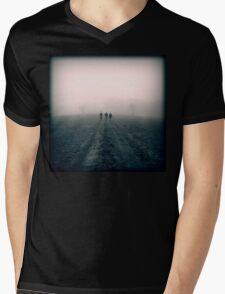 Distant Roads Mens V-Neck T-Shirt