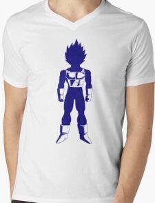 Saiyan warrior (Blue) Mens V-Neck T-Shirt