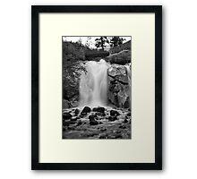 Helen Hunt Falls #2 (Black and White) Framed Print