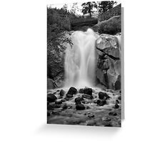 Helen Hunt Falls #2 (Black and White) Greeting Card