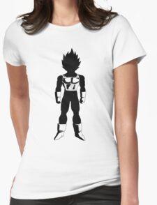 Saiyan Warrior (Black) Womens Fitted T-Shirt