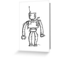 Insert the robot Greeting Card