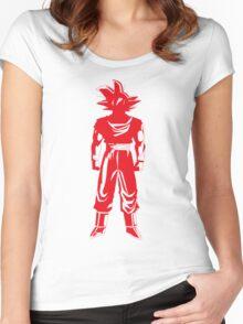 Saiyan warrior (Red) Women's Fitted Scoop T-Shirt