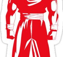 Saiyan warrior (Red) Sticker