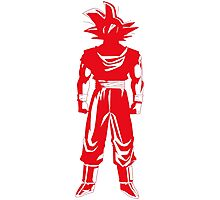 Saiyan warrior (Red) Photographic Print