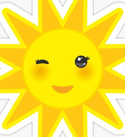 Smiling sun Sticker