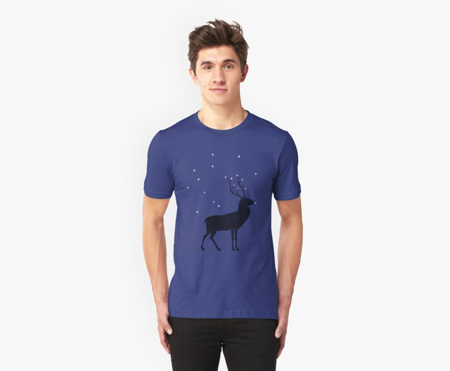 Stag grazing on the stars by SusanSanford