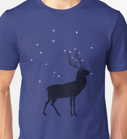 Stag grazing on the stars Unisex T-Shirt