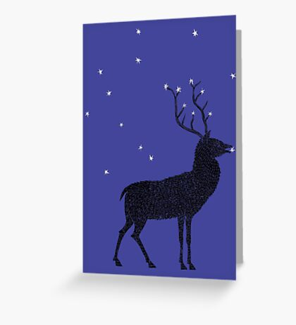 Stag grazing on the stars Greeting Card