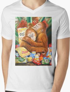 Palm Oil and Pollution Mens V-Neck T-Shirt