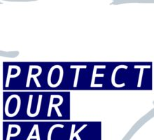 UCONN's Protect Our Pack Logo Design Contest Entry Sticker
