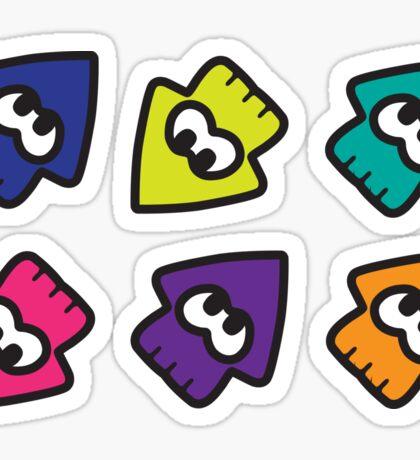 Splatoon-style Squids Sticker
