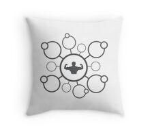 Circle Muscle Art Throw Pillow