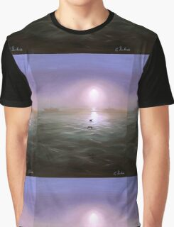 Seagulls in the mist Graphic T-Shirt