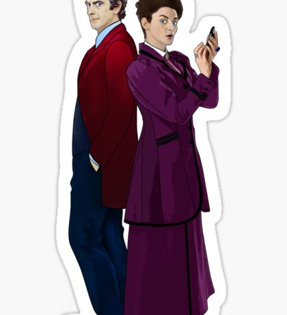 Missy and The Doctor Sticker