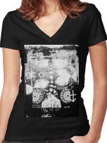 Man of The Night Women's Fitted V-Neck T-Shirt